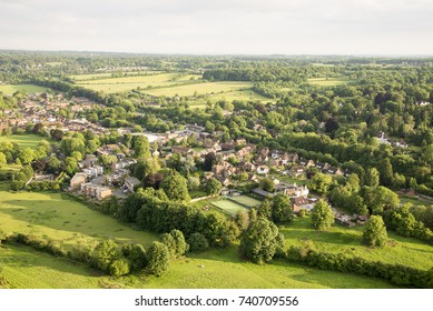 Aerial view of Buckinghamshire Landscape - United Kingdom - Hot air balloon aerial photography