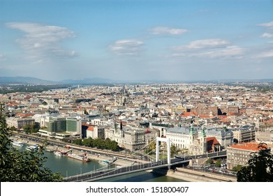 Aerial view of Budapest, Hungary.