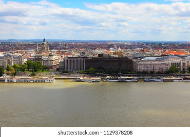 Aerial View of Budapest,Hungary. Wonderful Budapest View from Above.