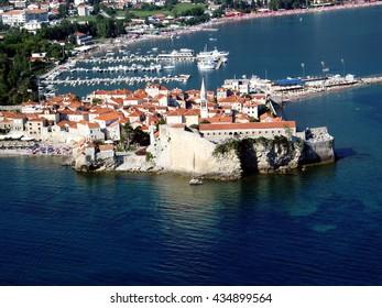 Aerial view at Budva, Montenegro