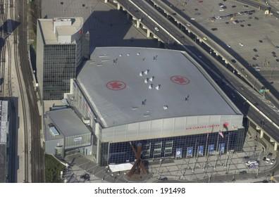 Aerial view of a building,  Toronto,  Canada