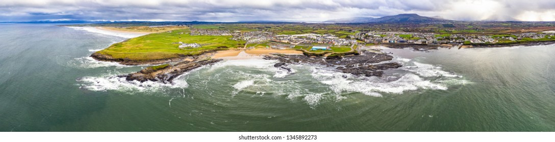 Aerial view of Bundoran and Donegal Bay - Ireland.