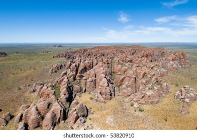 Aerial view of Bungle Bungles at Purnululu National Park, Western Australia