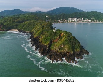 Aerial View of Cabecudas Cape, Itajai, Brazil