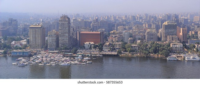 Aerial view of Cairo capital of Egypt skyline