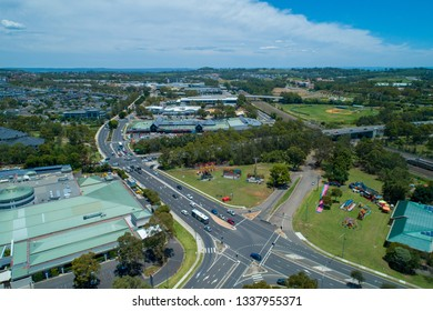 Aerial view of Campbelltown, New South Wales, Australia