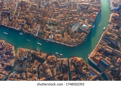 Aerial View the Canal of Venecia