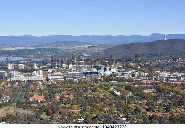 Aerial View of the Canberra City Center
