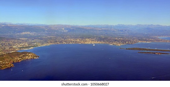 Aerial View of Cannes Bay, Cote d'azur Provence France