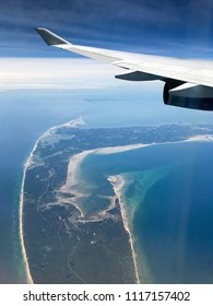 Aerial view of Cape Cod peninsula
