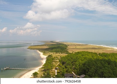 Aerial view of the Cape Lookout National Seashore, Outer Banks, North Carolina