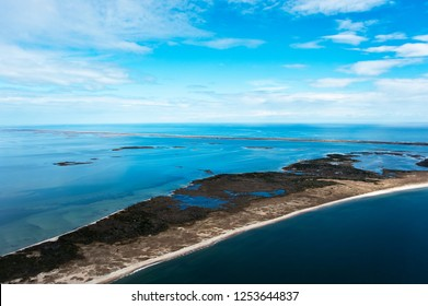 Aerial view cape lookout, shackleford banks north carolina