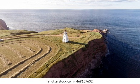 Aerial view of Cape Tryon PEI