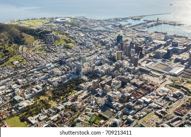 Aerial view of Capetown South Africa