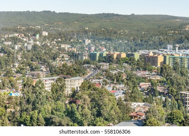 Aerial view of the Capital City of Ethiopia, Addis Ababa