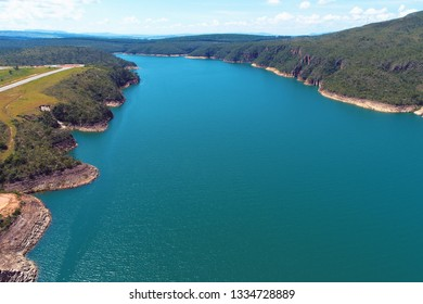 Aerial view of Capitolio's Lagoon with beautiful landscape. Capitolio, Minas Gerais, Brazil. Furnas's dam. Tropical travel. Travel destination. Vacation travel.