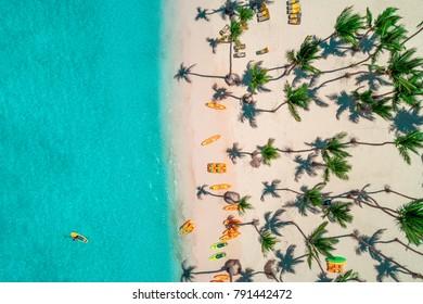 Aerial view of caribbean resort, Bavaro, Dominican Republic