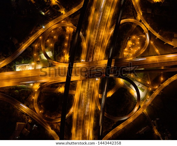 Aerial View Cars Driving On Highway Stock Photo Edit Now