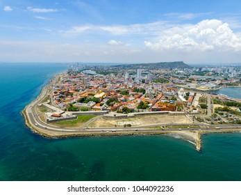 Aerial view of Cartagena de Indias, Colombia