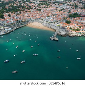 Aerial view of Cascais near Lisbon, Portugal