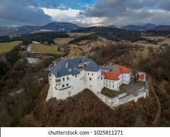 Aerial view of the castle of Lupca in Slovakia
