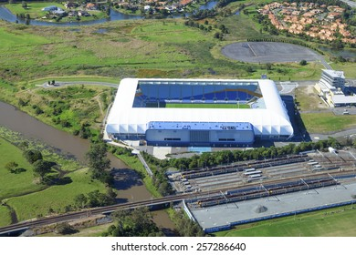 Aerial view of CBUS Super Stadium on June 16, 2013 in Gold Coast, Australia.