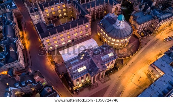 Aerial view of central Oxford, United Kingdom