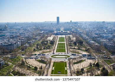 Aerial view of Champ de Mars, Paris
