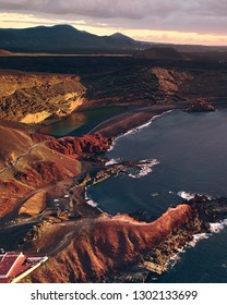 Aerial view of Charco de los Clicos in Lanzarote