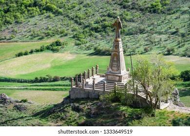Aerial view of the Christ of Medinaceli in Soria, Spain.