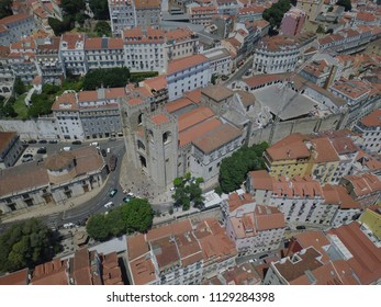 Aerial View Church and Fortress Lisbon