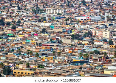 Aerial view of the city of Arica, Chile