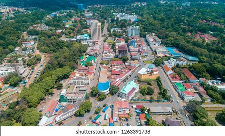 aerial view of the city of Arusha, Tanzania