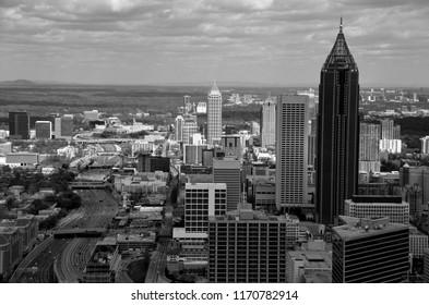 Aerial view of the city of Atlanta, Georgia