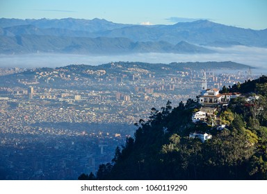 aerial view of the city of Bogota