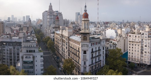 Aerial view of the city of Buenos Aires. Argentina