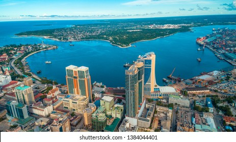 aerial view of the city of Dar es Salaam - Shutterstock ID 1384044401
