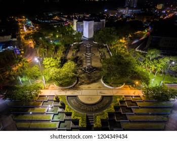 Aerial View of City Fan Park Miri, Sarawak.