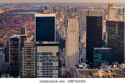 aerial view of the city of New York