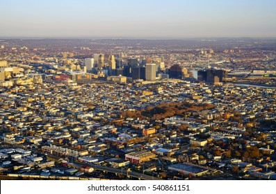 Aerial view of the city of Newark, New Jersey