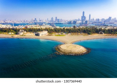 Aerial view of the city in Qijin Kaohsiung - Taiwan
