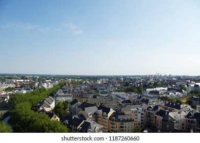 Aerial view of the city of Rennes