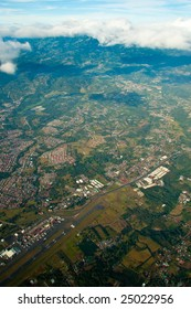 Aerial view of the city of San Jose, in Costa Rica