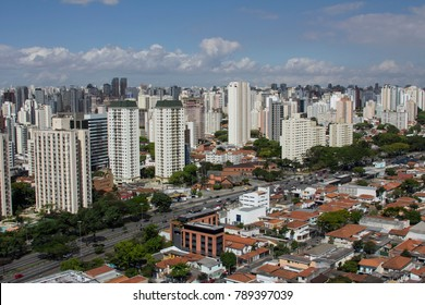 Aerial view of the city of Sao Paulo Brazil