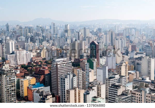 Aerial view of the city of sao paulo