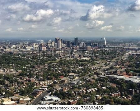 Aerial View City St Louis Missouri Stockfoto Jetzt Bearbeiten