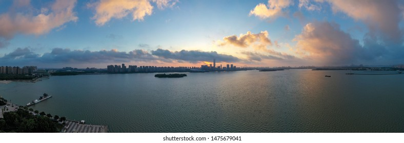 Aerial view of the city at suzhou,china