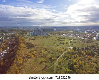 Aerial view of City Tallinn, Estonia