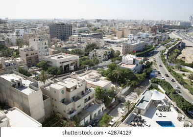 Aerial view of the city of Tripoli, Libya
