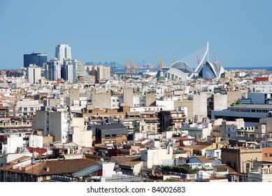 Aerial view city of Valencia (Spain)